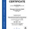 Certificate ISO 14001:2015 Oberaigner Automotive
