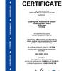 Certificate ISO 9001:2015 Oberaigner Automotive