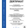 Zertifikat ISO 14001:2015 Oberaigner Powertrain