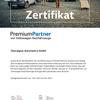 Zertifikat VW Premium Partner Oberaigner Automotive
